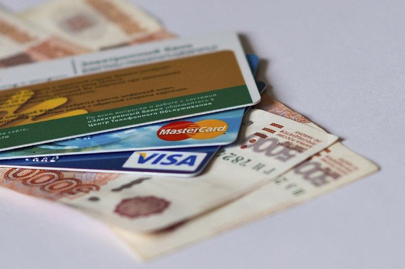 Dinheiro e cartão de crédito internacional