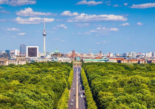Bairro e parque Tiergarten em Berlim