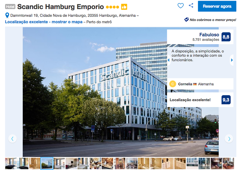 Hotel Scandic Hamburg Emporio em Hamburgo