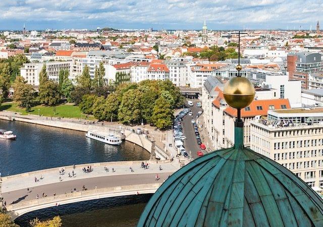 Cidade de Berlim na Alemanha