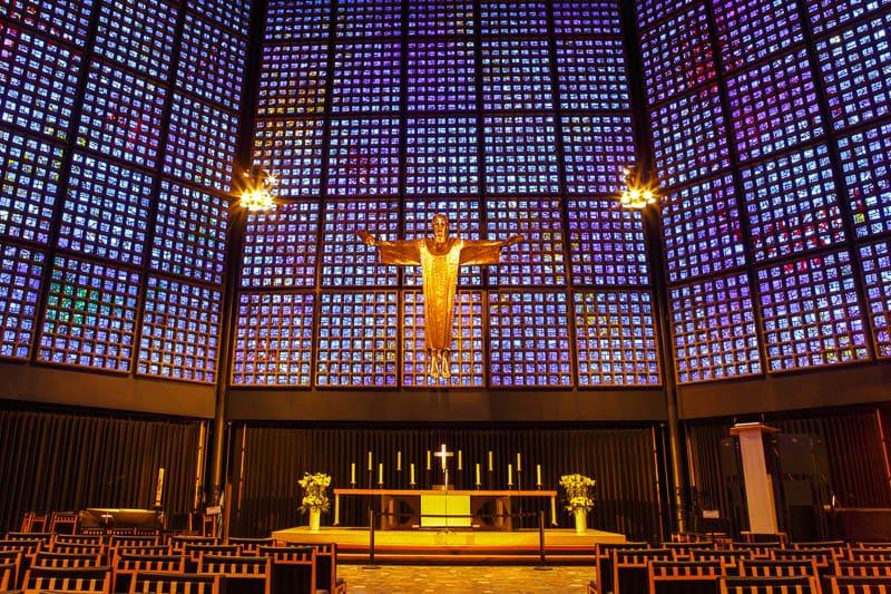 Interior da Igreja Nova em Berlim