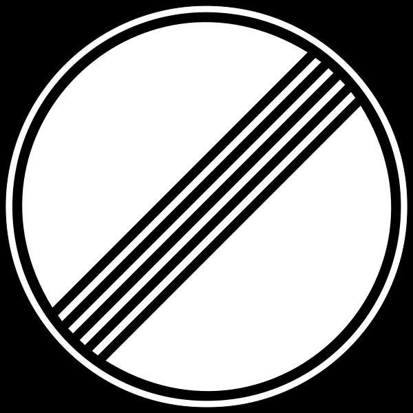 Placa que sinaliza que não há limite de velocidade