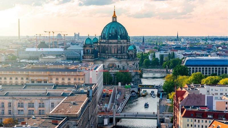 Vista da região da Catedral de Berlim