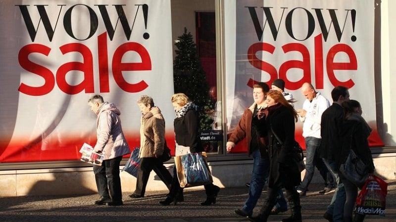 Liquidações nas lojas em Berlim