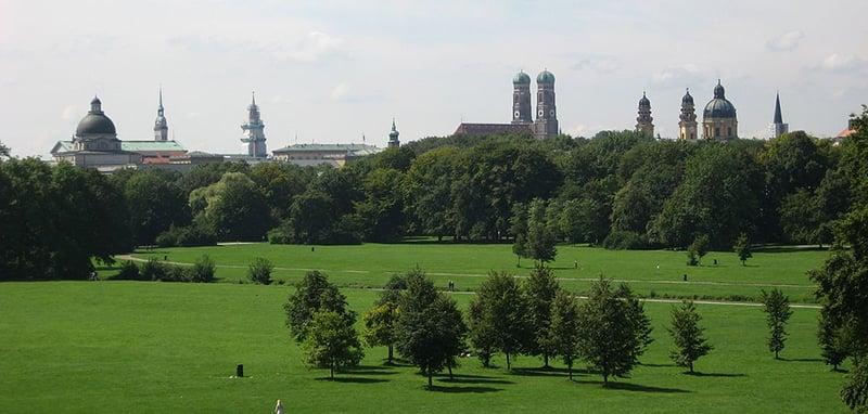 Parque Englischer Garten em Munique