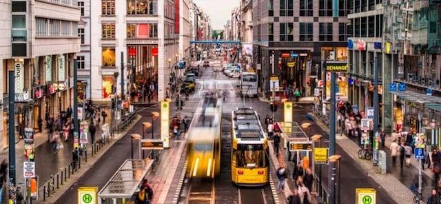 Área de compras em Berlim
