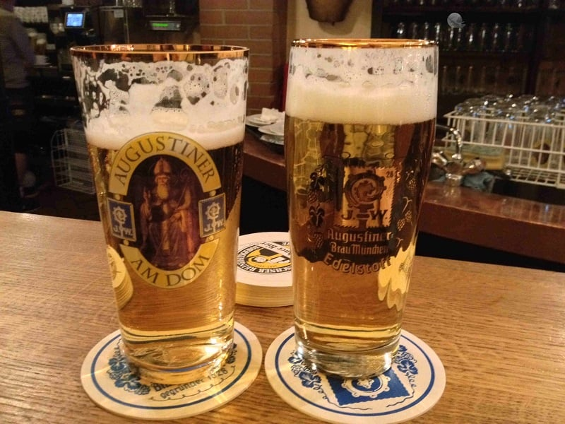 Cervejas do Augustiner em Berlim