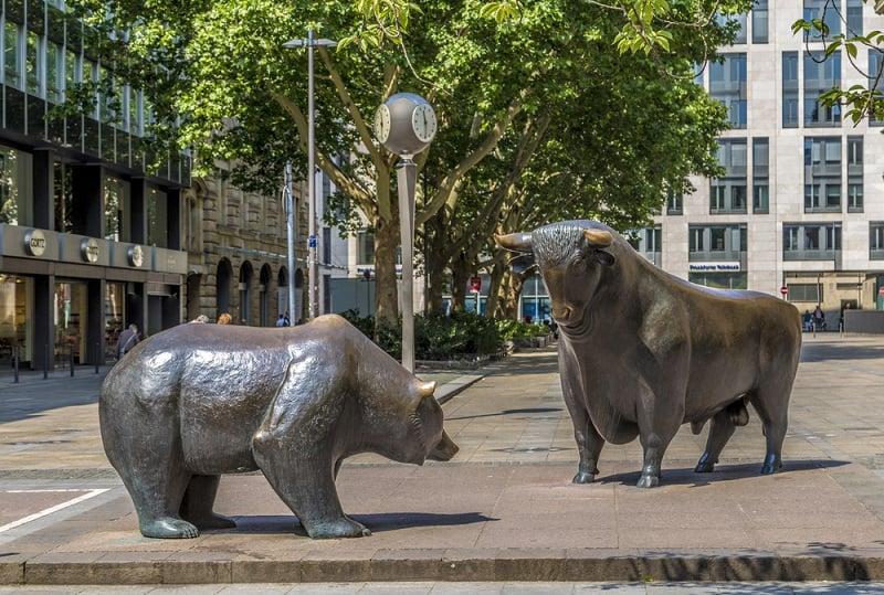 Búfalo e Urso da bolsa de Frankfurt