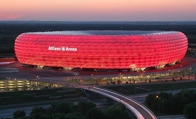 Passeio pelo estádio do Bayern em Munique