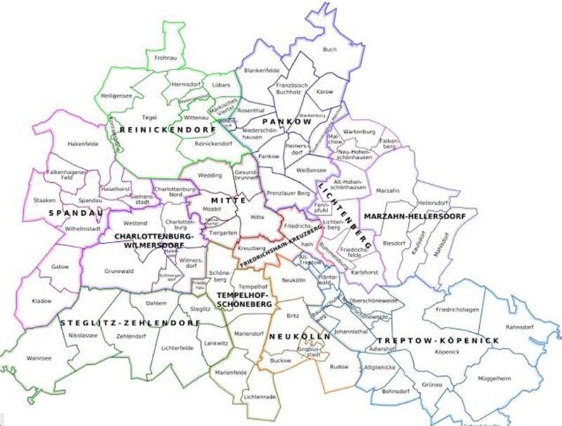 Mapa de Colônia