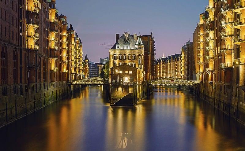 Speicherstadt em Hamburgo