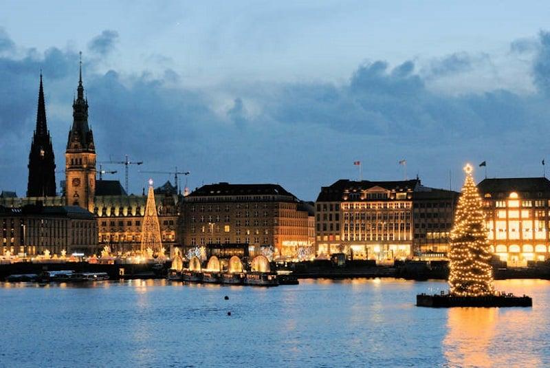 Rio Alster em Hamburgo