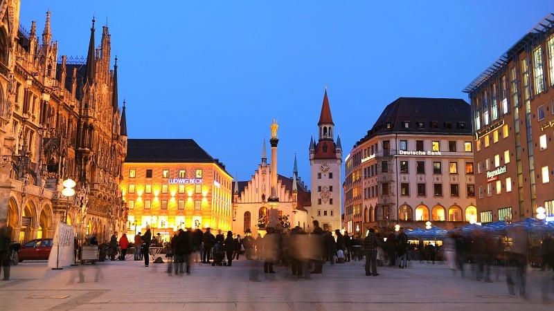 Marienplatz em Munique