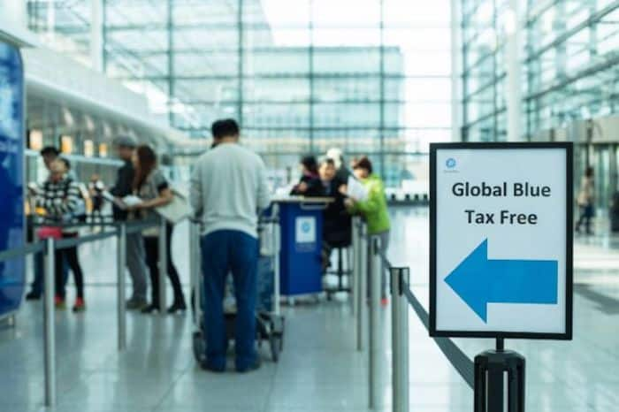 Fila de Tax Free no aeroporto