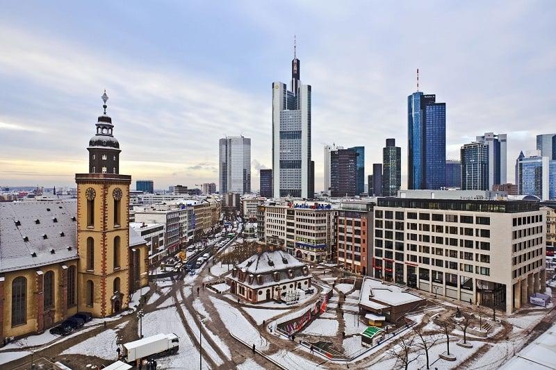 Frankfurt no inverno