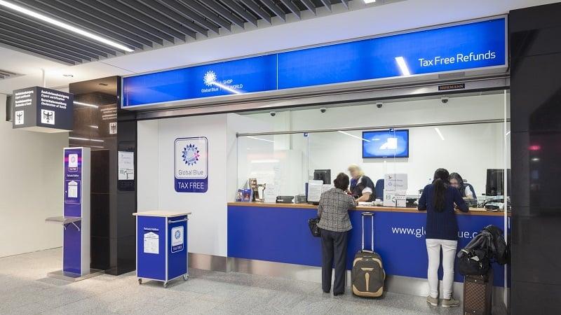 Devolução do imposto no Aeroporto da Alemanha