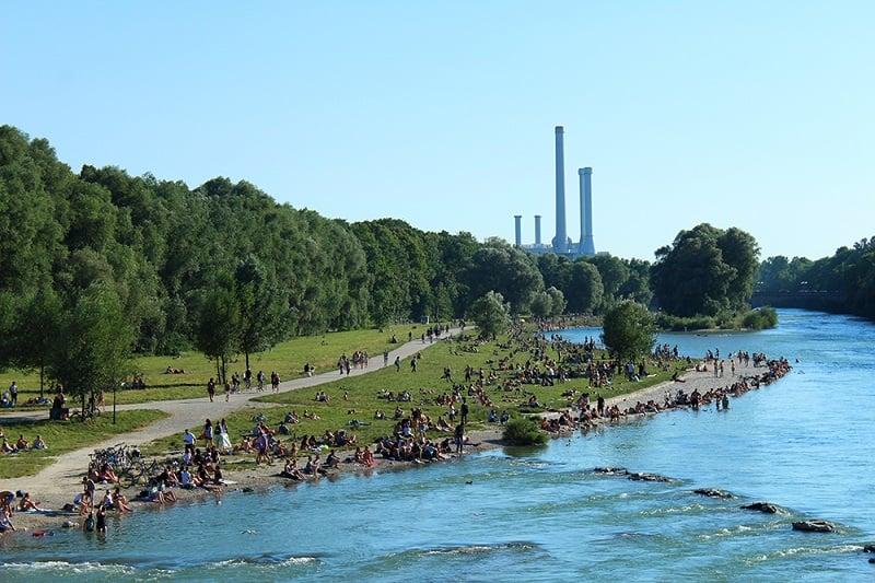Rio Isar em Munique