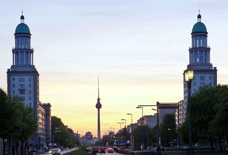 Karl-Marx-Allee e Frankfurter Allee em Berlim