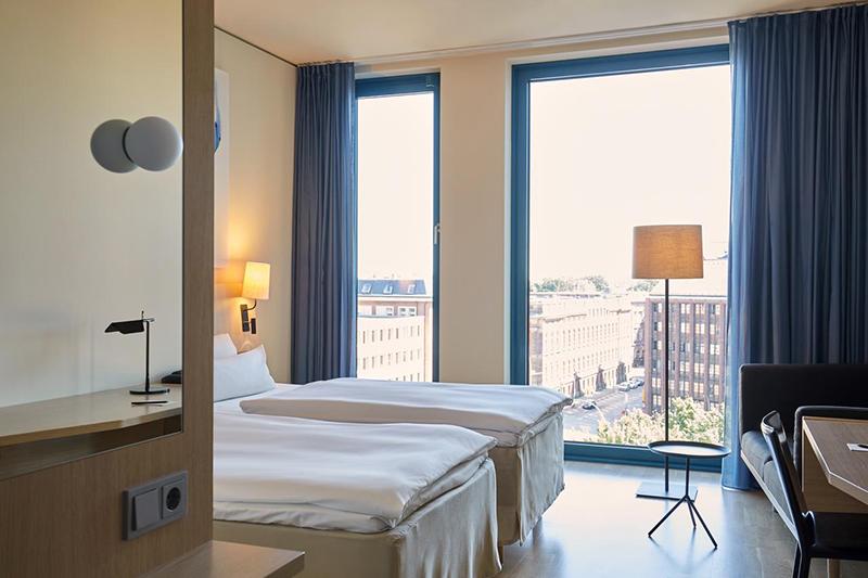 Suíte do hotel Scandic Hamburg Emporio
