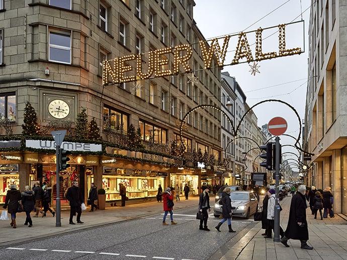 Passeio pelas lojas de luxo de Hamburgo
