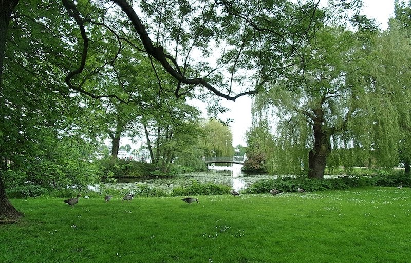 Parque Alsterpark em Hamburgo