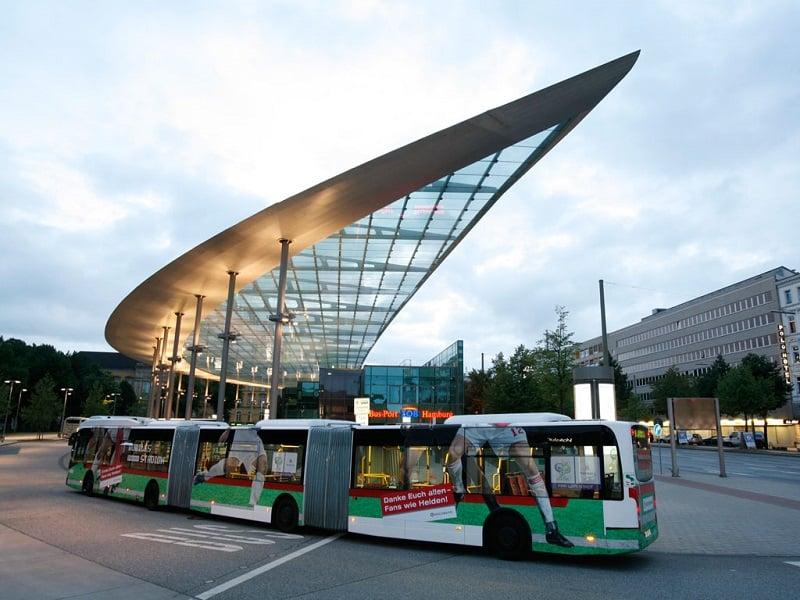Ônibus do aeroporto até o centro de Hamburgo