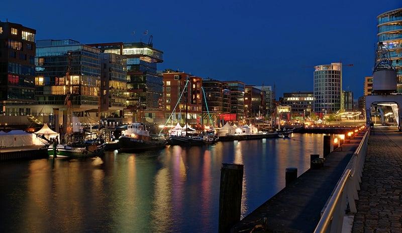 Passeio de barco em Hamburgo