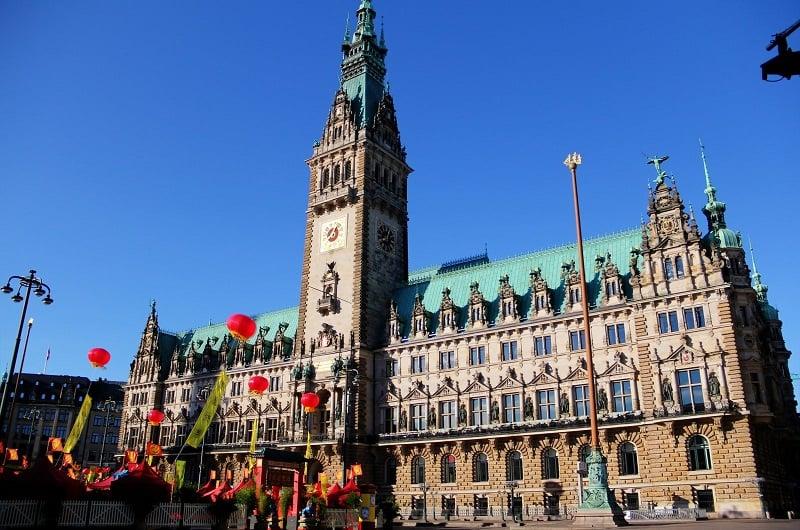 Passeio pelo centro histórico de Hamburgo