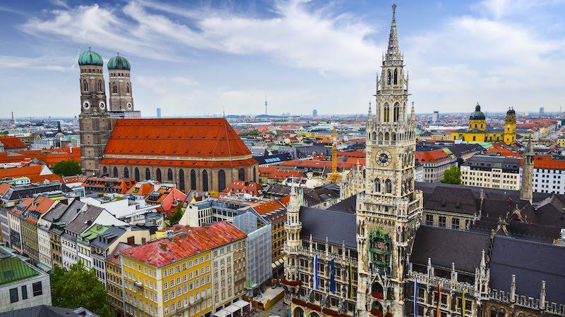Vista da cidade de Munique