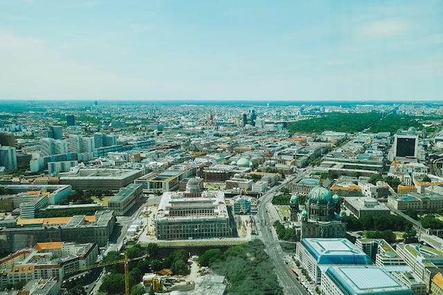 Vista da Torre de TV em Berlim