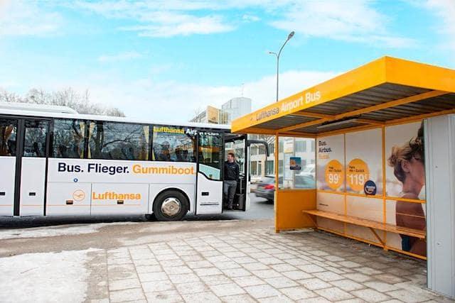 Ônibus da Lufhtansa no aeroporto de Munique