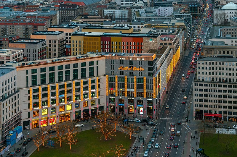 Vista do Mall of Berlin