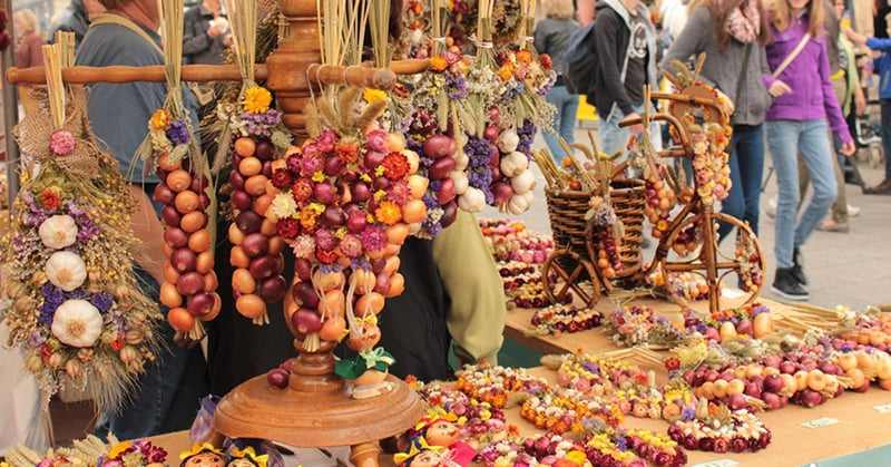 Festival Weimar's Onion Fair na Alemanha