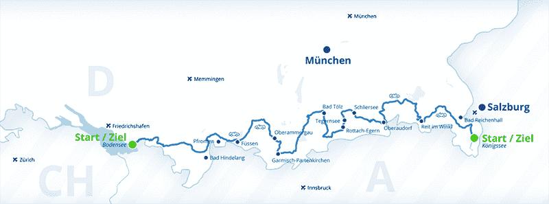 Rota dos Alpes na Alemanha