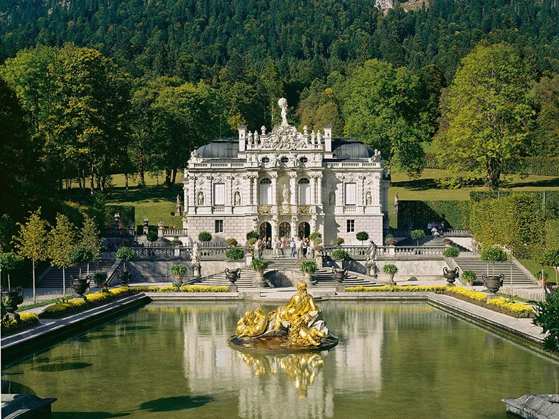 Vestíbulo no Palácio de Linderhof em Munique