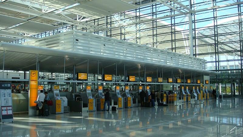Aeroporto internacional Munich Franz Josef Strauss na Alemanha