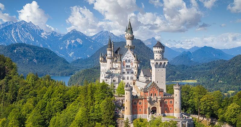 Castelos Hohenscwangau e Neuschwanstein na Baviera