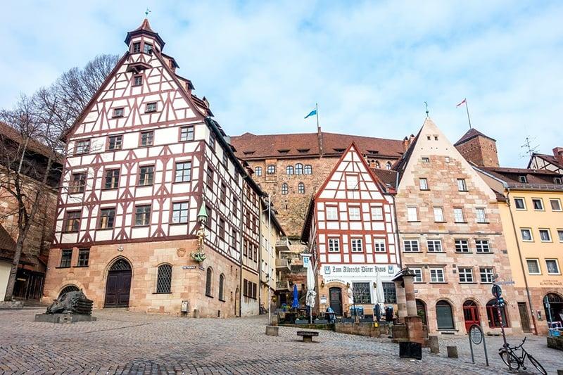Casas típicas em Nuremberg na Alemanha