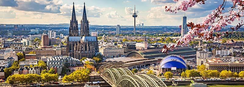 Vista da cidade de Colônia na Alemanha