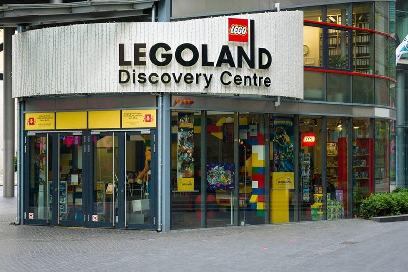 Fachada na Legoland Discovery Centre em Berlim