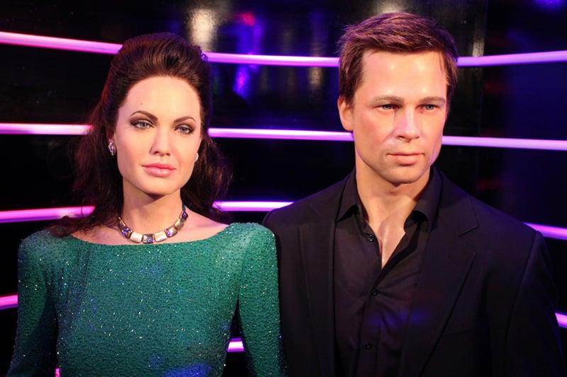 Brad Pitt e Angelina Jolie no Madame Tussauds em Berlim