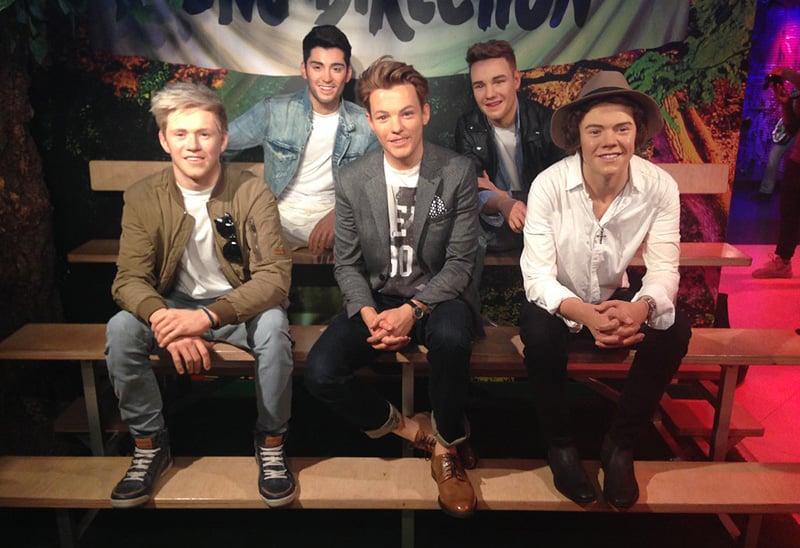 One Direction no Madame Tussauds em Berlim