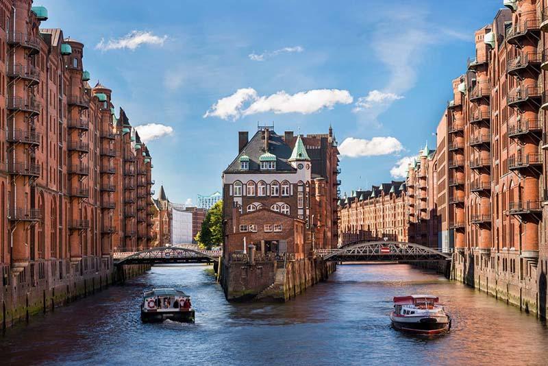 Famosas pontes de Hamburgo na Alemanha