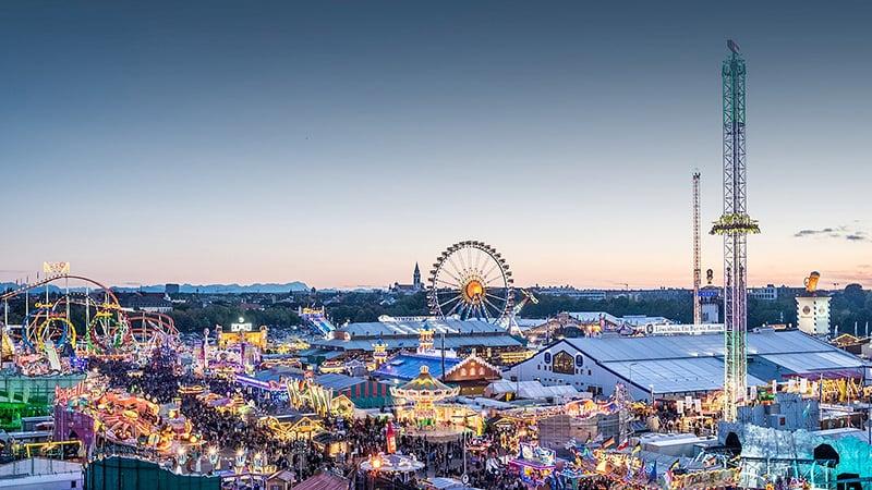 Arena Theresienwiese na Oktoberfest na Alemanha