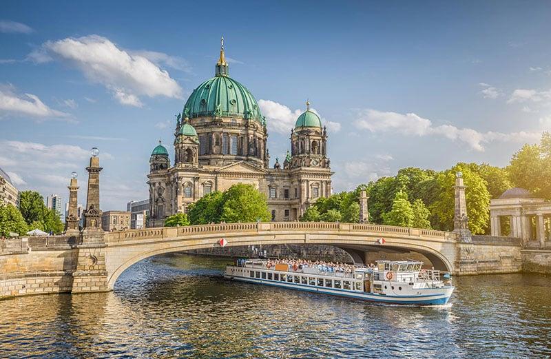 Dia de sol em Berlim