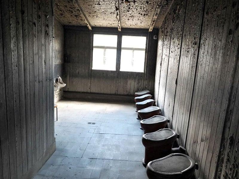Interior do campo de concentração de Sachsenhausen