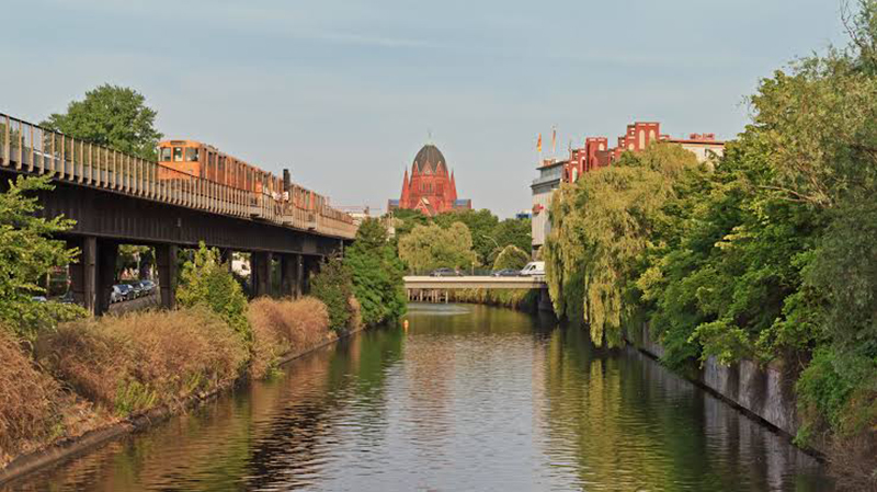Canal Landwehrkanal em Berlim