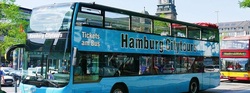 Estrutura do ônibus turístico em Hamburgo