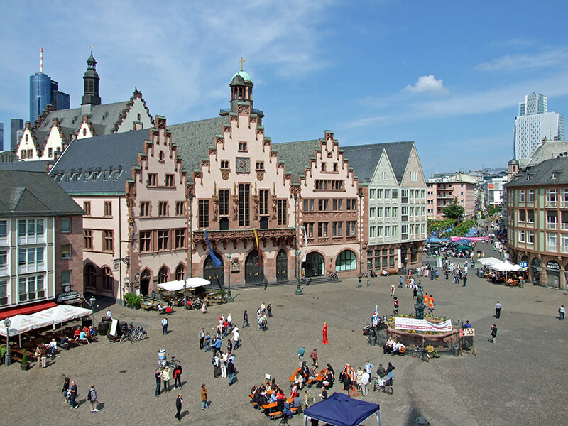 Praça Römer em Frankfurt
