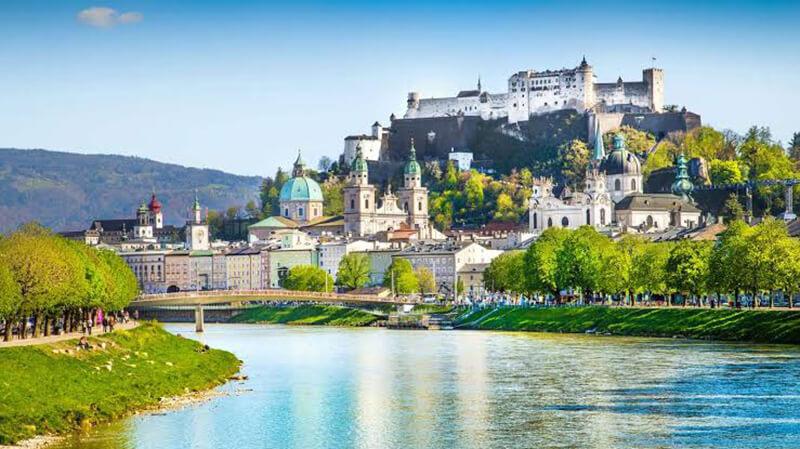 Paisagem em Salzburgo